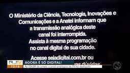 Sinal analógico de TV é desligado nas 24 cidades do Sul do Rio