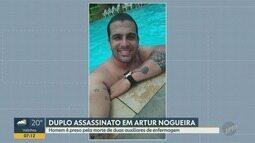 Homem é preso pela morte de duas técnicas de enfermagem em Artur Nogueira