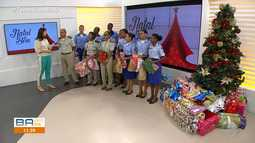 Solidariedade: alunos do Colégio da PM fazem doação para a campanha 'Natal do Bem'
