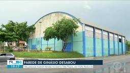 Parte de estrutura de ginásio desaba e deixa feridos em Volta Redonda, RJ