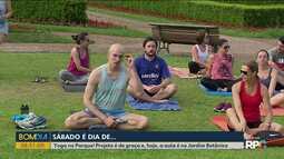Sábado é dia de yoga no parque