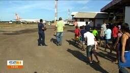 Crianças conhecem pela primeira vez rotina de aeroporto em Aracaju