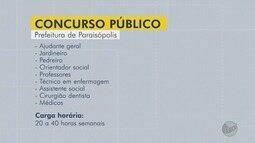 Concurso para Prefeitura de Paraisópolis tem inscrições abertas