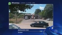 Homem é resgatado de borracharia após ser atingido por pneu de trator