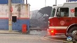 Incêndio em fábrica de pneus mobiliza bombeiros de Sorocaba