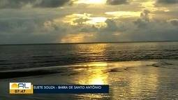 Veja fotos do amanhecer em Alagoas nesta sexta-feira