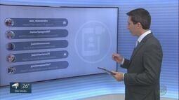 Veja os comentários dos telespectadores no EPTV1 neste sábado (16)