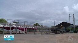 Camarotes são montados para o carnaval do Recife e Olinda