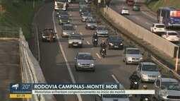 Motoristas usam acostamento para trafegar na Campinas Monte Mor