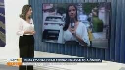 Duas pessoas ficam feridas em assalto a ônibus na Zona Oeste de Manaus