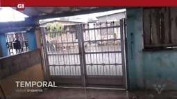 G1 em 1 minuto - Santos: Cidades da Baixada Santista contabilizam estragos com forte chuva
