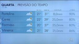 Confira a previsão do tempo para esta quarta-feira (20) em Goiás