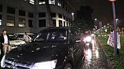 Veja o momento em que Temer e Moreira Franco chegam a sede da Polícia Federal no Rio