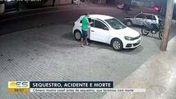 Câmera mostra casal antes de sequestro, que terminou com morte, no ES