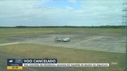 Pousos e decolagens no aeroporto de Jaguaruna são suspensos