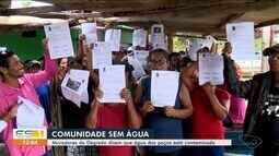 Moradores de Degredo em Linhares, ES, dizem que água de poços estão contaminadas