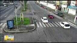 Quadro 'Radar' mostra a movimentação do trânsito em Belém nas primeiras horas do dia