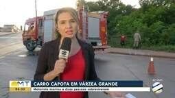 Motorista morre em capotamento na Av. Filinto Müller, em Várzea Grande