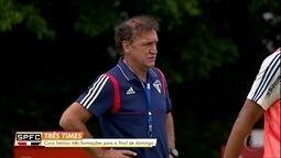 No São Paulo, Cuca treina três times para decisão do Paulista