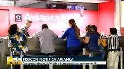 Procon notifica Avianca