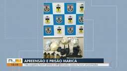 Três suspeitos são presos e até granadas caseiras foram apreendidas em Maricá, no RJ