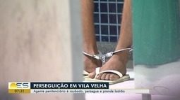 Agente penitenciário é assaltado, mas prende suspeito no ES