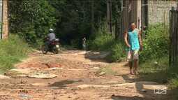 Moradores reclamam da más condições das vias em bairro de Paço do Lumiar