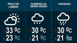 Confira as variações do tempo nesta quinta-feira (25) no Maranhão