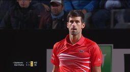 Djokovic vence Del Potro pelo Masters 1000 de Roma