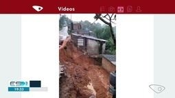 Moradores da Grande Vitoria registram destruição após chuvas fortes no ES