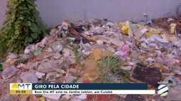 Giro pela cidade: Bom Dia mostra vazamento de água e lixo acumulado