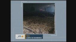 Incêndio mobiliza bombeiros em São Lourenço do Oeste