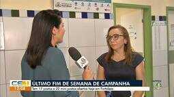 Campanha de vacinação contra gripe termina na sexta-feira