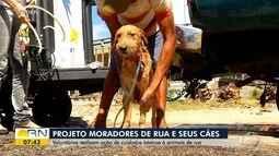 Projeto cuida de cães de moradores de rua em Natal