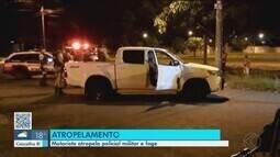Policial militar é atropelado por empresário na BR-050 durante fuga em Uberlândia