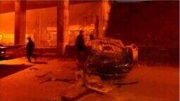 Queda de veículos em trincheira no Anel Rodoviário assusta moradores em Divinópolis