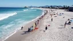 Saquarema promove abraço no mar e se prepara para etapa do mundial de Surf