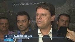 Ministro da Infraestrutura inaugura e visita obras em Santa Catarina