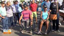 Militares realizam protesto em Aracaju
