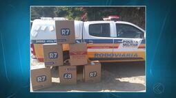 Polícia Militar Rodoviária apreende na BR-267 carga de cigarros do Paraguai
