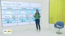 Confira a previsão do tempo para esta quarta-feira (19) no interior do Rio