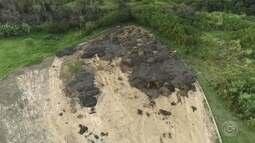Moradores reclamam de lama com lixo em bacia de contenção em Sorocaba