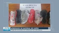 Mulheres são apreendidas com drogas e celulares escondidos em sandálias