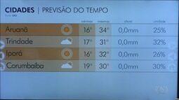 Confira a previsão do tempo para esta quarta em Goiás