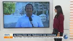 Obras alteram o trânsito no bairro de Ondina, em Salvador