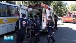 Simulado de acidente chama a atenção de valadarenses no Centro da cidade