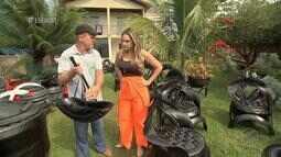 Arte sustentável com pneus em Canarana - Bloco 01