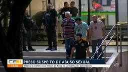 Está preso o médico suspeito de crimes sexuais