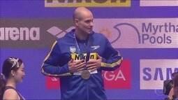 Aos 39 anos, Nicholas Santos é o nadador mais velho a ir ao pódio em Mundiais