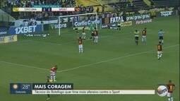 Hemerson Maria quer Botafogo-SP mais ofensivo contra o Sport